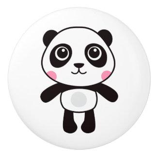 Pomo De Cerámica Panda linda