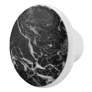 Pomo De Cerámica Piedra de mármol negra