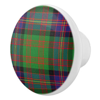 Pomo De Cerámica Tela escocesa de tartán escocesa de Cochrane del