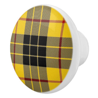 Pomo De Cerámica Tela escocesa de tartán escocesa de MacLeod del