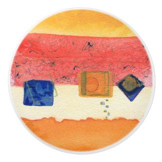 Pomo De Cerámica Tirón de cerámica del cajón del arte abstracto de