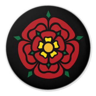 Pomo De Cerámica Tudor subió - color de rosa inglés