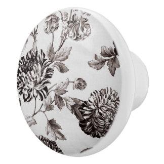 Pomo De Cerámica Vintage de color topo gris de color de ante Toile