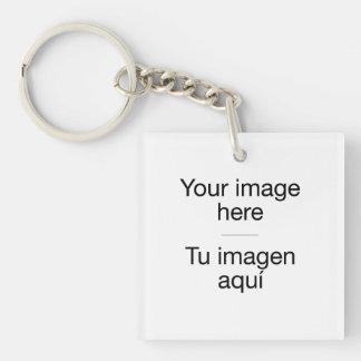 Pon tu foto propia en llavero en blanco