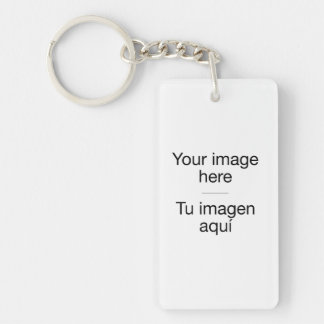 Pon tu foto propia en plantilla en blanco llavero rectangular acrílico a doble cara
