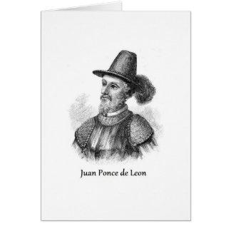 Ponce de León y la fuente de la juventud Tarjeta De Felicitación