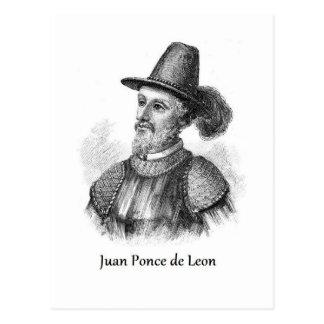 Ponce de León y la fuente de la juventud Postal