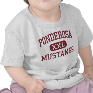 Ponderosa - mustangos - alto - Parker Colorado Camiseta
