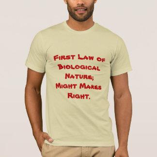 Pone en ridículo el theorizing natural camiseta
