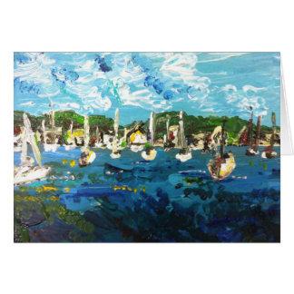 Poner-n-Bahía el lago Erie que pinta la tarjeta de