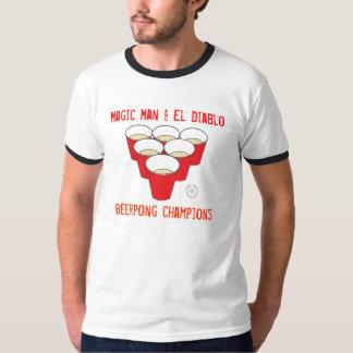 pong, hombre mágico y EL Diablo, campeones de Camiseta