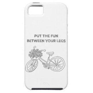Ponga la diversión entre sus piernas funda para iPhone 5 tough