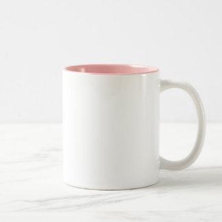 Ponga las fotos sobre rosa de las tazas… taza dos tonos