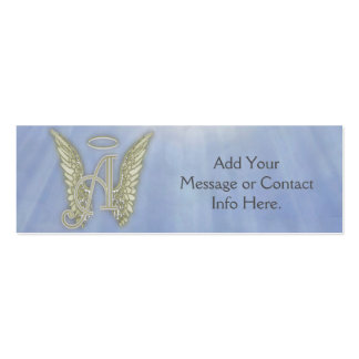 Ponga letras a un monograma del ángel tarjetas de visita mini