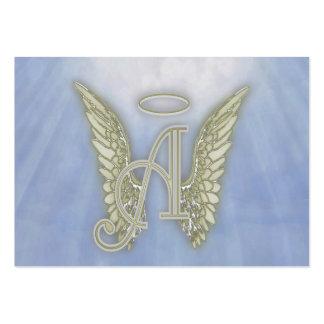 Ponga letras a un monograma del ángel tarjetas de visita grandes