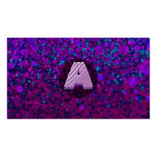 Ponga letras a un monograma moderno tarjetas de visita