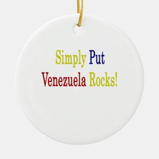 Ponga simplemente las rocas de Venezuela Adorno