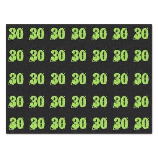 Ponga verde el trigésimo papel seda del fiesta
