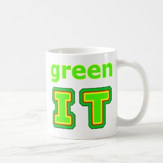 póngalo verde el gibsphotoart del MUSEO Taza Básica Blanca