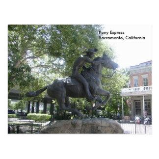 Pony Express Tarjeta Postal