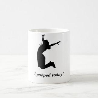 "¡Pooped hoy! Mujer divertida de la taza ""pooped ho"