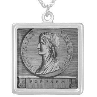 Poppaea Sabina, grabando después de un romano Colgante Cuadrado