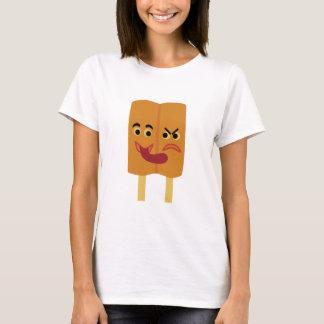 Popsicle de los gemelos siameses camiseta