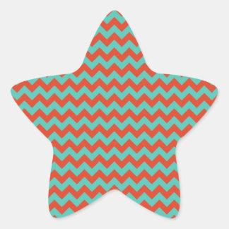 Por completo con el blanco - tierra calcomanía forma de estrella personalizada