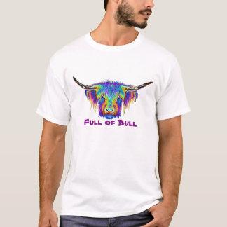 Por completo de la imagen colorida del toro de camiseta