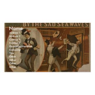 """Por el mar triste agita, """"yo no tienen gusto"""" del  tarjetas personales"""