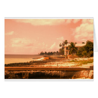 Por el océano (tono del melocotón) tarjeta de felicitación