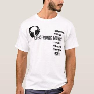 Por favor música electrónica de la reserva camiseta