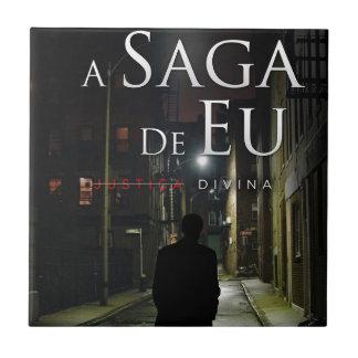 "Por Joel Puga de Capa de ""Justiça Divina"" Azulejo Cuadrado Pequeño"
