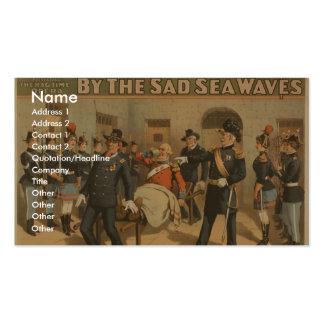 ¡Por las ondas tristes del mar, 'ponga esa féretro Tarjetas De Visita