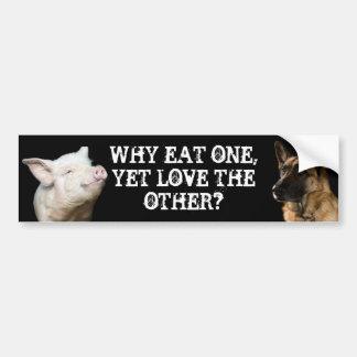 ¿Por qué coma uno, con todo ame el otro? Pegatina Para Coche