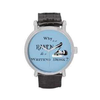 """¿""""Por qué es un cuervo como un escritorio? Reloj"""