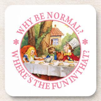 ¿Por qué sea normal? ¿Dónde está la diversión en é Posavasos