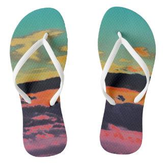 """Por sandalias de la playa del mar"""