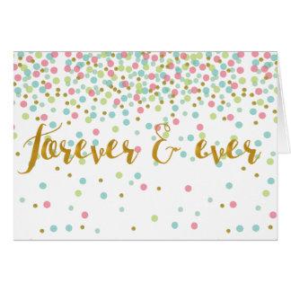 Por siempre jamás tarjeta del amor de la tarjeta