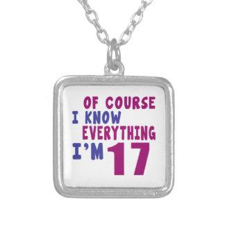 Por supuesto sé que todo soy 17 collar plateado