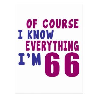 Por supuesto sé que todo soy 66 postal