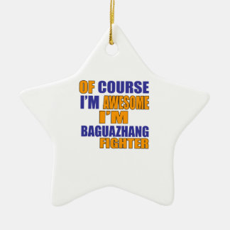 Por supuesto soy combatiente de Baguazhang Adorno De Cerámica