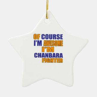 Por supuesto soy combatiente de Chanbara Adorno De Cerámica