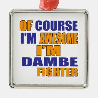 Por supuesto soy combatiente de Dambe Adorno De Cerámica