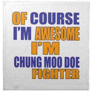 Por supuesto soy combatiente de la gama del MOO de Servilleta Imprimida