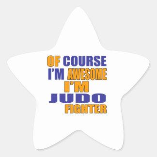 Por supuesto soy combatiente del judo pegatina en forma de estrella