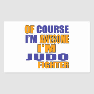 Por supuesto soy combatiente del judo pegatina rectangular