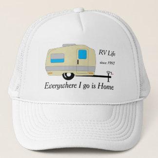 Por todas partes voy soy vida casera de rv gorra de camionero