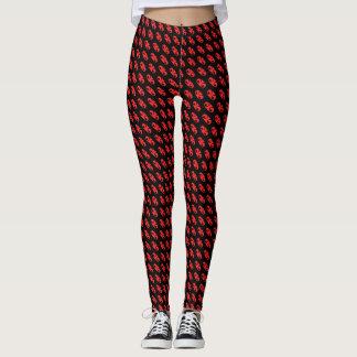 por todo diseño abstracto con el fondo negro leggings