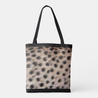 Por todo la impresión del guepardo bolso de tela